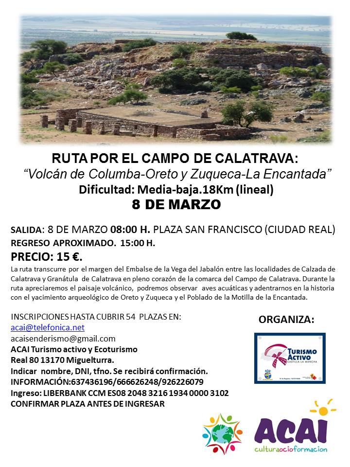RUTA SENDERISTA 8 DE MARZO. CAMPO DE CALATRAVA
