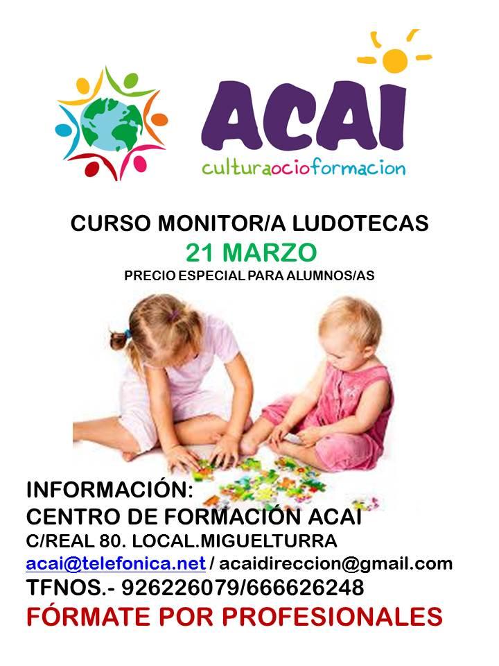 CURSO MONITOR/A DE LUDOTECAS.