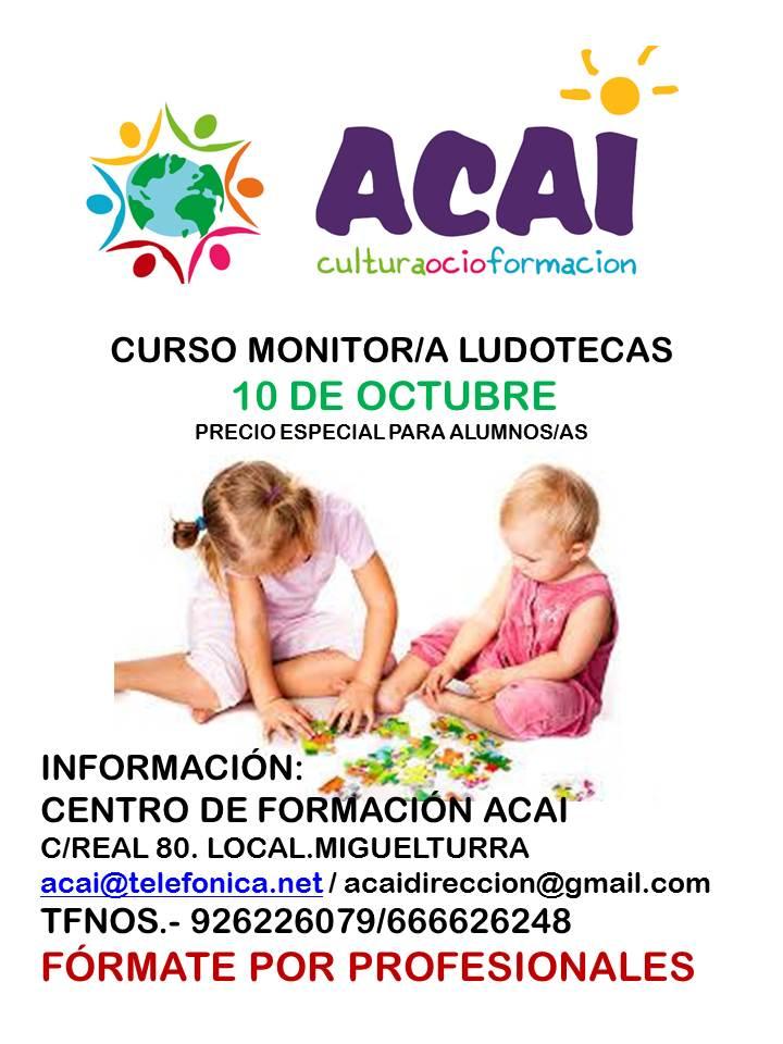 CURSO DE MONITOR/A DE LUDOTECA