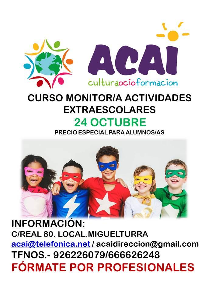 CURSO DE ACTIVIDADES EXTRAESCOLARES