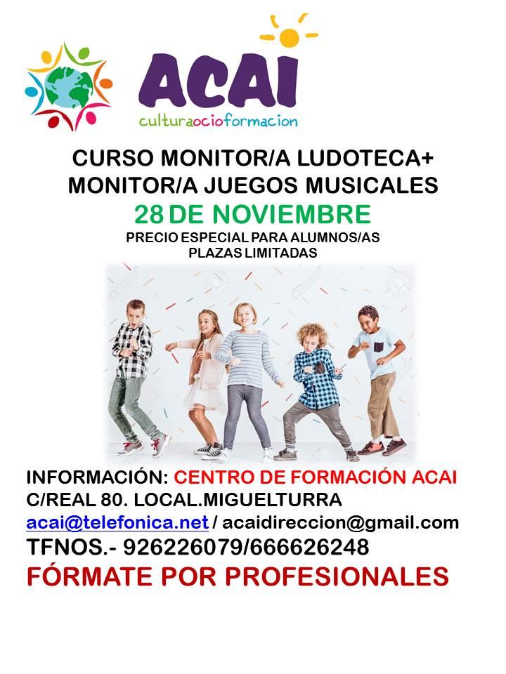 CURSO MONITOR/A DE LUDOTECA Y JUEGOS MUSICALES