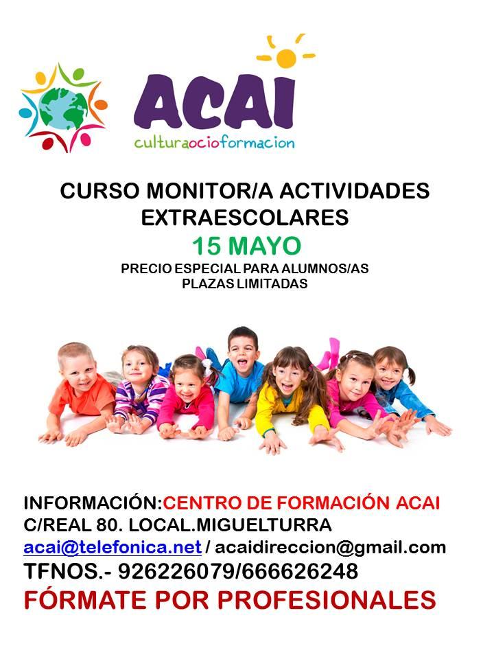 CURSO MONITOR/A ACTIVIDADES EXTRAESCOLARES