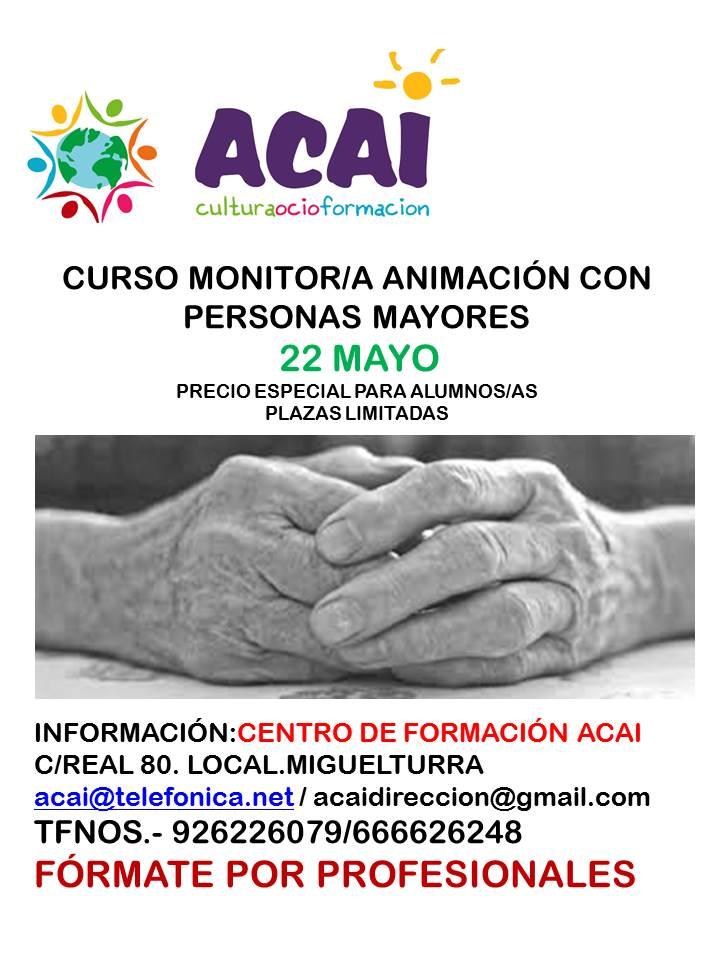 CURSO MONITOR/A ANIMACIÓN PERSONAS MAYORES