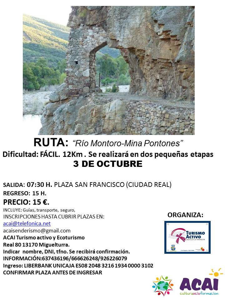 RUTA SENDERISTA 3 OCTUBRE