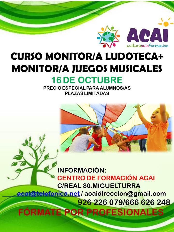 CURSO MONITOR/A LUDOTECA + JUEGOS MUSICALES