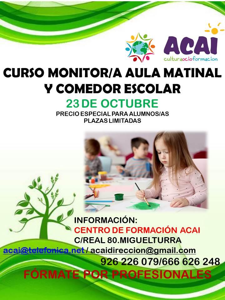 CURSO AULA MATINAL Y COMEDOR ESCOLAR